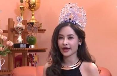Lần đầu tiên Hoa hậu Đại dương lên truyền hình vẫn nói đẹp tự nhiên
