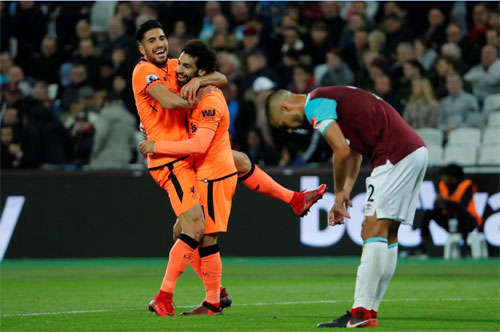 Liverpool thắng đậm West Ham, áp sát top 4