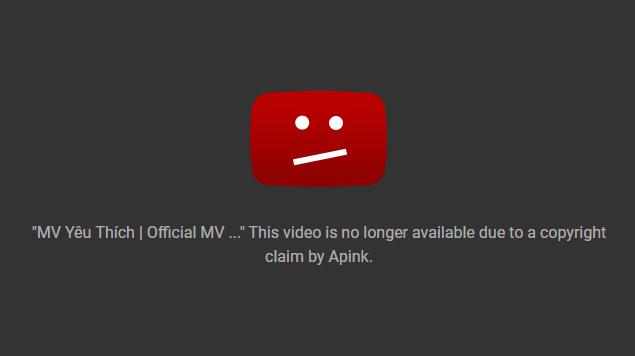 Vừa phát hành, MV mới của Quán quân Sao Mai 2017 đã bị YouTube gỡ vì đạo trắng trợn MV của A Pink