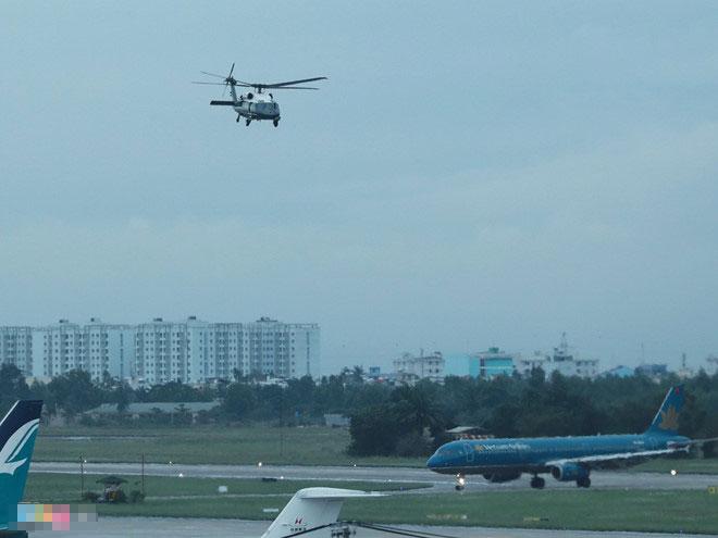 Marine One của Tổng thống Trump bay thử ở Đà Nẵng