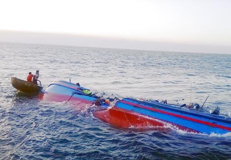 Tìm thấy thi thể 2 thuyền viên cuối cùng của tàu cá bị chìm