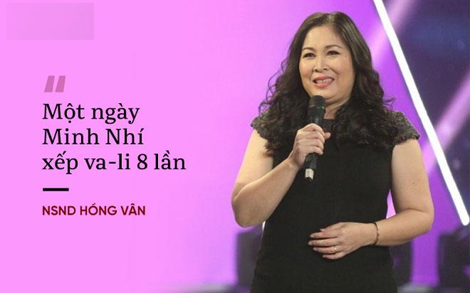 NSND Hồng Vân: Minh Nhí xài sang và kỹ tính, một ngày xếp va-li 8 lần