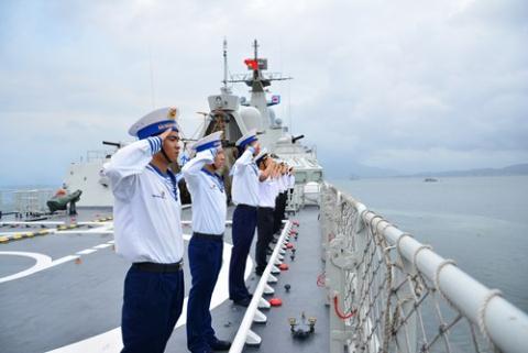 Chiến hạm mạnh nhất Việt Nam diễn tập quốc tế