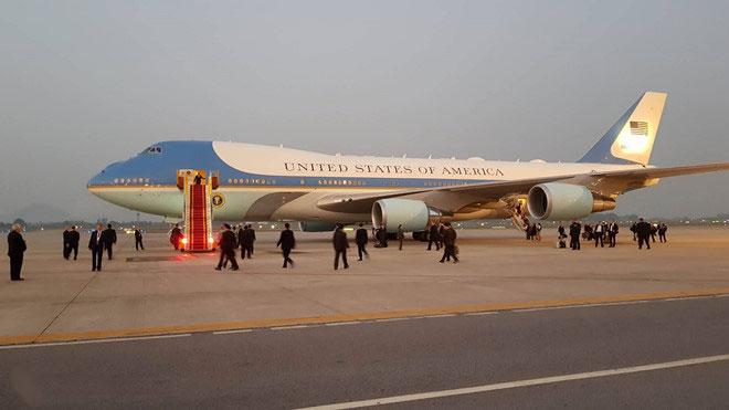 Chủ tịch nước chiêu đãi Tổng thống Mỹ Donald Trump
