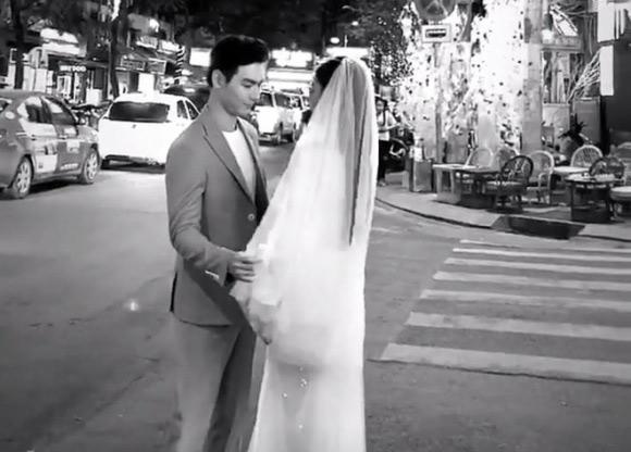 Chúng Huyền Thanh và bạn trai chụp ảnh cưới tại phố Tây Bùi Viện