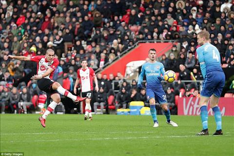 Sao Arsenal chỉ trích đồng đội sau trận hòa Southampton