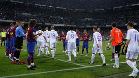 Barca không xếp hàng vinh danh Real ở Siêu kinh điển