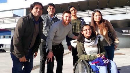 Xúc động khi Messi biến giấc mơ của thiếu nữ tị nạn thành sự thật