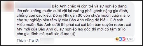 Bảo Anh phản pháo Hồ Quang Hiếu: Lấy chồng thì cứ phải tử tế thì lấy không thì thôi