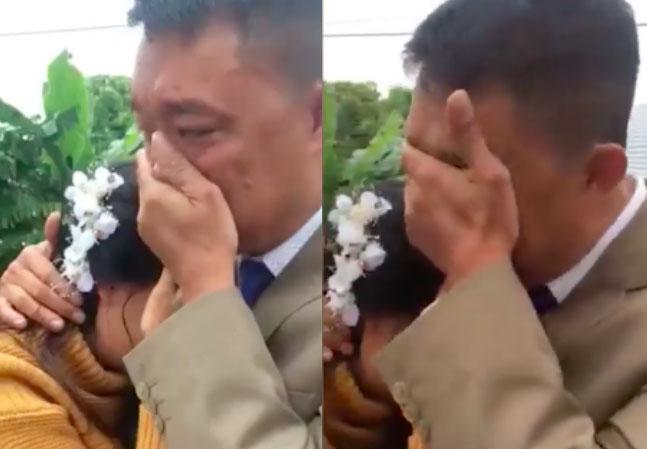 Bố khóc nức nở tiễn con về nhà chồng gây bão mạng: Nhà có 2 đứa, 1 đứa đi rồi, đứa kia lấy chồng nốt thì bố trắng tay