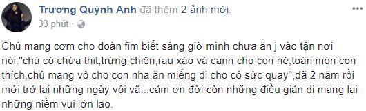 Trương Quỳnh Anh: Cảm ơn điều giản dị đã mang lại những niềm vui lớn lao