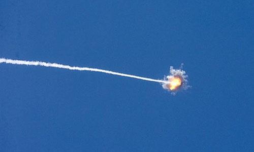 Hai tên lửa từ dải Gaza phóng vào Israel