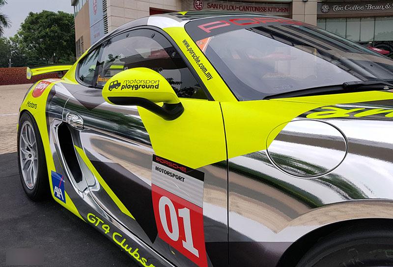 Xe đua lạ mắt Porsche Cayman GT4 ở Sài Gòn