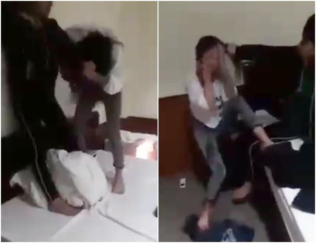Nhắn tin thách thức vợ của nhân tình, cô gái trẻ bị đánh ghen tơi tả trong nhà nghỉ gây xôn xao