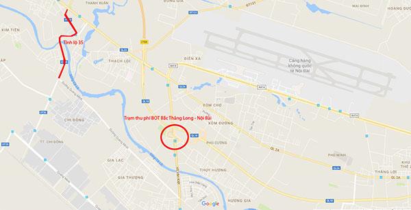 Tỉnh lộ bị băm nát vì tài xế né trạm BOT Thăng Long - Nội Bài