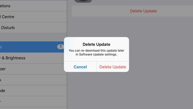 Cách chặn yêu cầu cập nhật của iOS