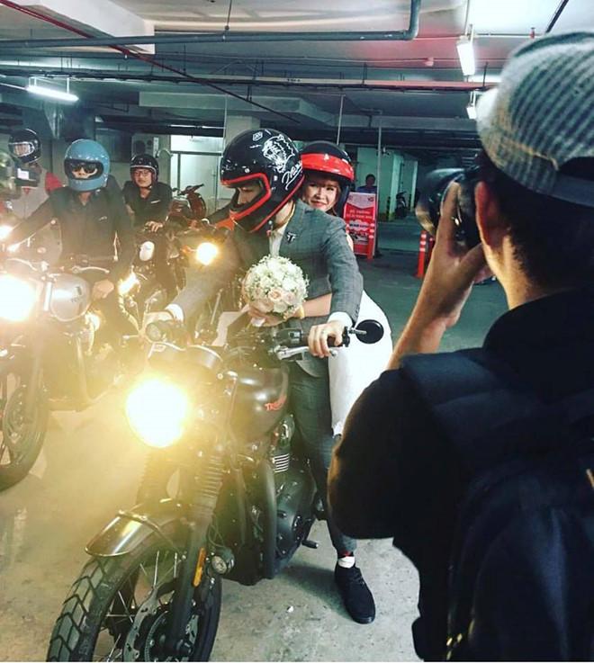 Lễ rước dâu bằng dàn xe môtô của Khởi My và Kelvin Khánh