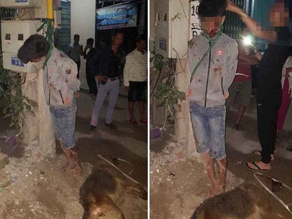 Bắc Giang: Nam thanh niên đi trộm chó bị dân vây đánh, treo lên cột điện