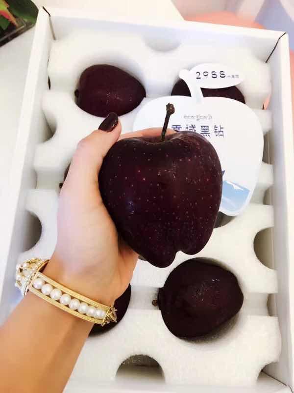 Giống táo kim cương đen siêu độc, rẻ nhất cũng 200 nghìn/quả