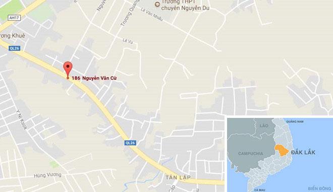 Nổ súng cướp ngân hàng bất thành ở Đắk Lắk