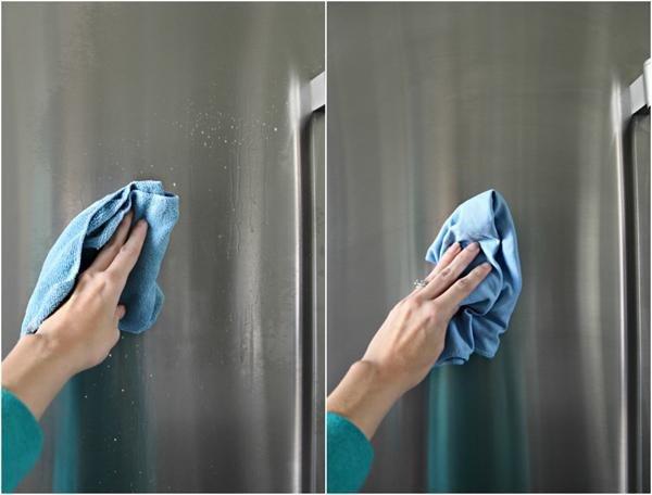 Tủ lạnh sáng bóng kin kít với 6 bước lau chùi chỉ mất 10 phút