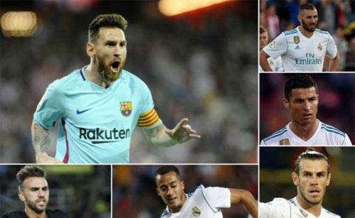 Messi ghi bàn nhiều gấp đôi hàng tiền đạo Real