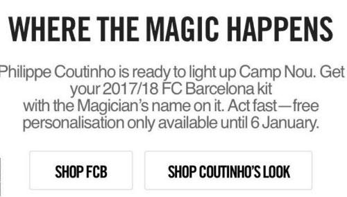 Barca nhiều khả năng đã chiêu mộ Coutinho