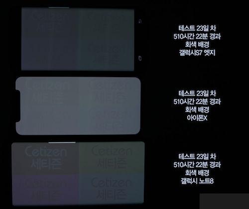 Màn hình iPhone X bị lưu ảnh sau 17 giờ
