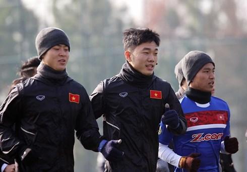 U23 Việt Nam méo mặt làm quen với cái lạnh 0 độ C ở Trung Quốc