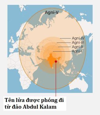Ấn Độ thử tên lửa đạn đạo liên lục địa tầm xa 5.000 km