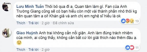 Minh Luân, Hà Vân khuyên Quý Bình bỏ qua trong lùm xùm Trường Giang