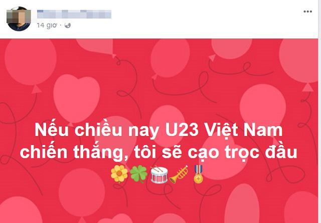 Dở khóc dở cười với lời nói là làm mừng U23 Việt Nam: Cạo đầu, khỏa thân, đập ti vi