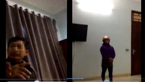 Lộ clip nghi Chủ tịch xã vào nhà nghỉ với nữ cán bộ