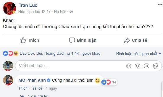 MC Phan Anh, Hoàng Bách...rầm rộ mua vé sang Trung Quốc cổ vũ U23