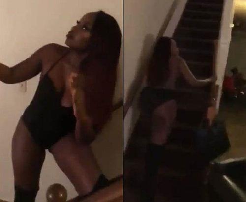Bị bắt quả tang vụng trộm, cô gái giả vờ là búp bê tình dục