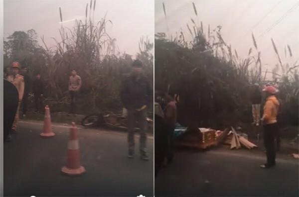 Hòa Bình: Va chạm với xe ô tô tải 2 người đi xe máy bị đứt lìa thân