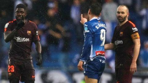 Umtiti đòi tẩn cầu thủ Espanyol trong đường hầm