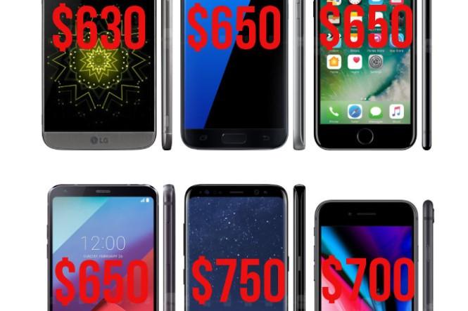 Giá trung bình smartphone quý 4/2017 cao kỷ lục