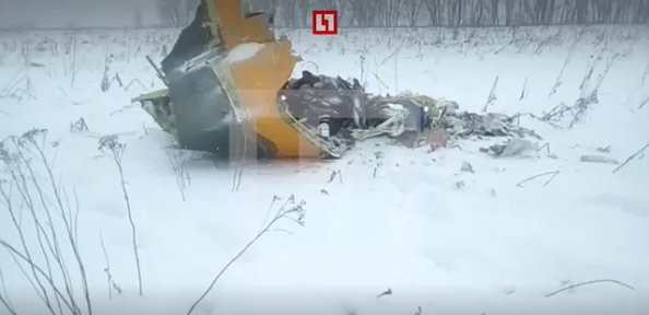 Máy bay rơi gần Moscow: Toàn bộ 71 hành khách thiệt mạng
