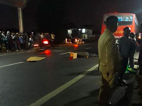 Mùng 3 Tết, hôn đuôi xe buýt, người đàn ông đi xe máy thiệt mạng thương tâm