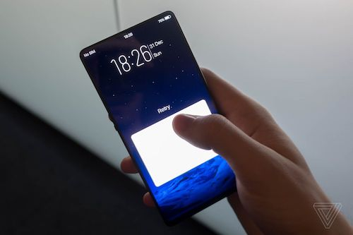 Smartphone với một nửa màn hình là cảm biến vân tay