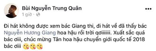 Cảm xúc vỡ oà của sao Việt trước chiến thắng vang dội của tân Hoa hậu Chuyển giới Hương Giang