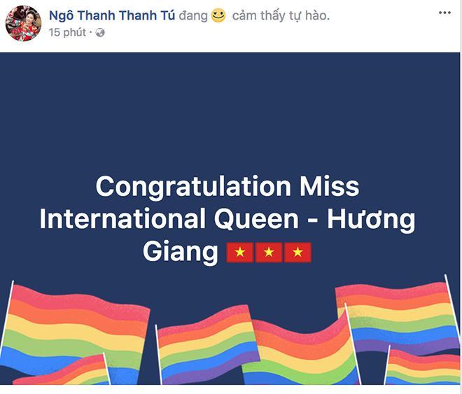 Cảm xúc vỡ oà của sao Việt trước chiến thắng vang dội của tân Hoa hậu Chuyển giới Hương Giang - 5