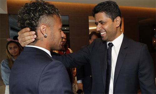 Chủ tịch PSG đến Brazil trấn an Neymar