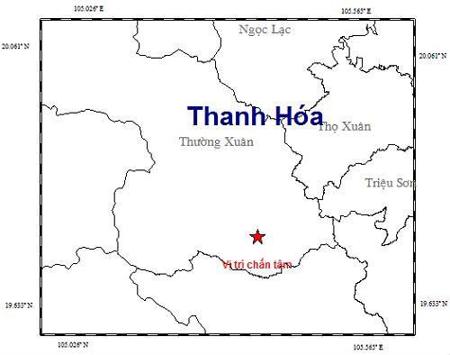 Động đất 3 độ richter ở biên giới Thanh Hóa