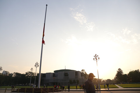 Lễ thượng cờ rủ Quốc tang nguyên Thủ tướng Phan Văn Khải tại quảng trường Ba Đình