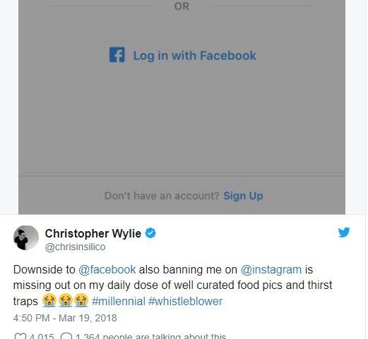 Christopher Wylie - Ngôi sao đang nổi nhờ tố cáo Facebook là ai?