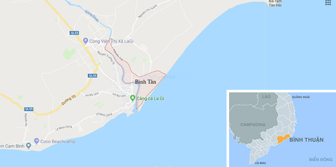 Phát hiện xác chết không đầu trôi trên biển La Gi