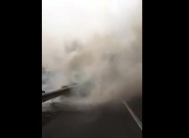 Khói mù mịt, tông xe liên hoàn trên cao tốc TP.HCM - Long Thành - Dầu Giây
