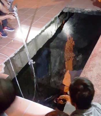 Hố tử thần ở Quảng Ninh có thể do hoạt động hang ngầm